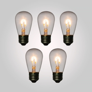 LED Filament Light Bulb, S14, Vintage Look, Energy Saving, E26 Base, 1 Watt (5 PACK)