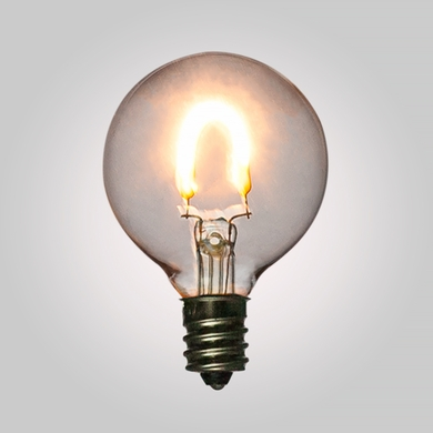LED Filament Light Bulbs, G40 Globe Vintage Look, Energy Saving, E12 Base, 0.6 Watt (2-PACK)