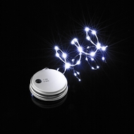 MoonBright™ LED Mason Jar Lights, Battery Powered for Regular Mouth - White (Lid Light Only)