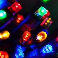 LED Polka Dot String Light Sets - 70 Bulbs