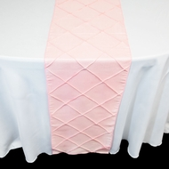 Light Pink  Pintuck Chameleon Table Runner - 12 x 108 Inch