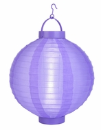 Light Purple LED Round Nylon Battery Lantern