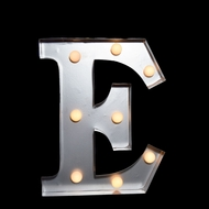 Marquee Light Letter 'E' LED Metal Sign (10 Inch, Battery Operated)