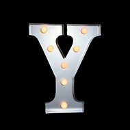 BLOWOUT Marquee Light Letter 'Y' LED Metal Sign (10 Inch, Battery Operated)