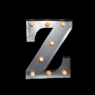 BLOWOUT Marquee Light Letter 'Z' LED Metal Sign (10 Inch, Battery Operated)