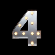 BLOWOUT Marquee Light Number '4' LED Metal Sign (10 Inch, Battery Operated)