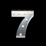 BLOWOUT Marquee Light Number '7' LED Metal Sign (10 Inch, Battery Operated)