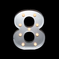 BLOWOUT Marquee Light Number '8' LED Metal Sign (10 Inch, Battery Operated)