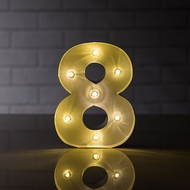 Marquee Light Number '8' LED Metal Sign (8 Inch, Battery Operated)