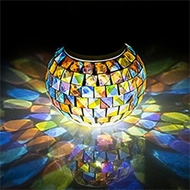 Mosaic Glass Tea Light Candle Holders
