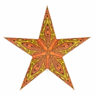 "24"" Orange Dahlia Paper Star Lantern, Hanging (Light Not Included)"