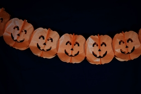 Orange Large Pumpkin Halloween Garland Banner (10FT)