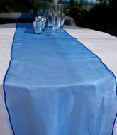 Organza Table Runner - Dark Blue