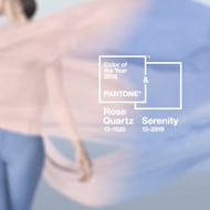 Pantone 2016 Color of the Year - Rose Quartz & Serenity Blue