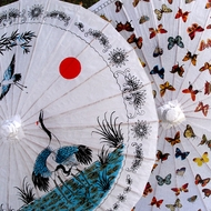 Patterned Paper Parasol Umbrellas