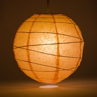 Peach / Orange Coral Crisscross Ribbing Paper Lanterns