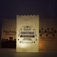 Personalized Holiday Luminary Bag Lights - Custom Printed (10 PACK)