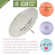 Personalized Printed Paper Parasol Umbrellas