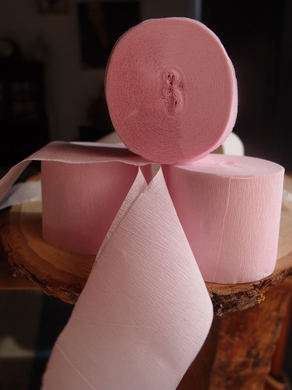 Pink Crepe Paper Streamer Party Decorations (195FT Total, 3 PACK)
