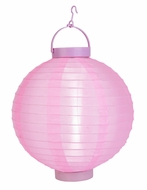 Pink LED Round Nylon Battery Lantern
