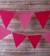 Pink Ombre Triangle Flag Pennant Banner (11FT)