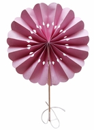"""BLOWOUT 8"""" Pink Pinwheel Paper Hand Fans for Weddings (10 PACK)"""