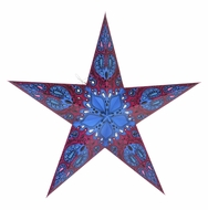 "24"" Purple Galaxy Paper Star Lantern, Hanging Decoration"