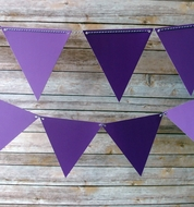 Purple Ombre Triangle Flag Pennant Banner (11FT)