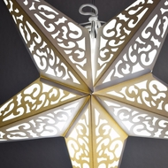 "24"" Atomic White Paper Star Lantern, Hanging Decoration"
