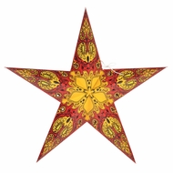 "24"" Red Galaxy Paper Star Lantern, Hanging (Light Not Included)"