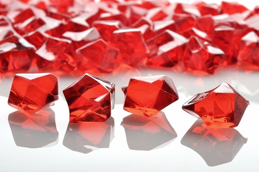 Red Gemstones Acrylic Crystal Wedding Table Scatter Confetti Vase Filler (3/4 lb Bag)
