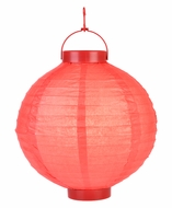 Red LED Round Paper Battery Lantern