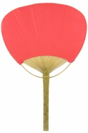 "9"" Red Paddle Paper Hand Fans for Weddings (10 PACK)"