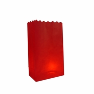 Red Paper Luminary Bags Path Lighting (10 PACK)