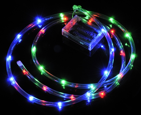 30 multi color rgb fairy led battery powered waterproof string 30 led rgb waterproof string rope light 6 ft clear submersible tube battery operated aloadofball Choice Image