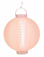 Rose Quartz Pink LED Round Nylon Battery Lantern