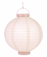 Rose Quartz Pink LED Round Paper Battery Lantern