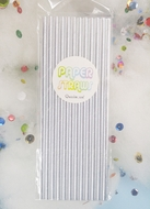 Silver Metallic Paper Straws for Parties, Solid Color (12-PACK)