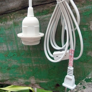 Single Socket White Pendant Light Lamp Cord for Lanterns, 15FT, UL Listed