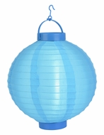 Sky Blue LED Round Nylon Battery Lantern