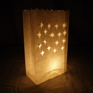 Small Starburst Paper Luminary Bags Path Lighting (10 PACK)