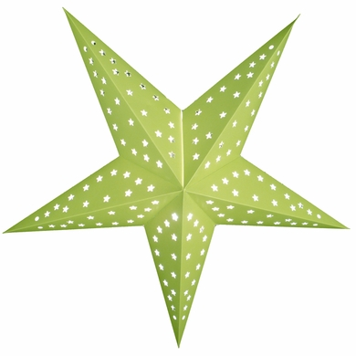 """24"""" Solid Lime Green Cut-Out Paper Star Lantern, Hanging Decoration"""