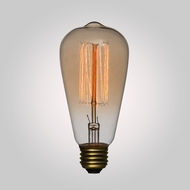 40-Watt Incandescent ST64 Vintage Edison Light Bulb, Squirrel Cage Filament, E26 Base