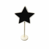 BLOWOUT Standing Chalkboard Table Number Holder - Star