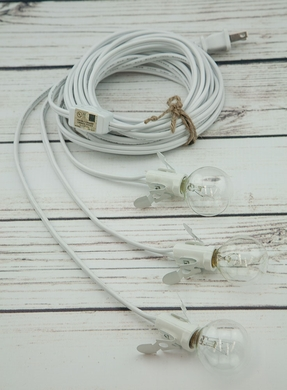 Star Lantern Triple Socket White Pendant Light Lamp Cord, 17 Ft, UL Listed