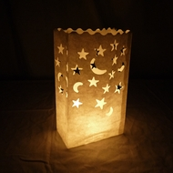 Star Moon Paper Luminary Bags Path Lighting (10 PACK)