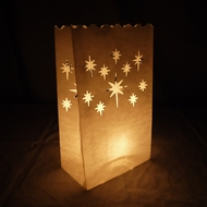 Starburst Paper Luminary Bags Path Lighting (10 PACK)