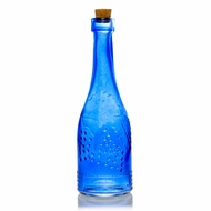 Stella Blue Vintage Glass Bottle Glassware Flower Vase