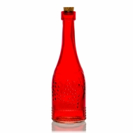 Stella Red Vintage Glass Bottle Glassware Flower Vase