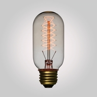 40-Watt Incandescent T45 Vintage Edison Light Bulb, Spiral Filament, E26 Base